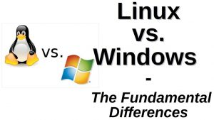 Fundamental difference win vs linux